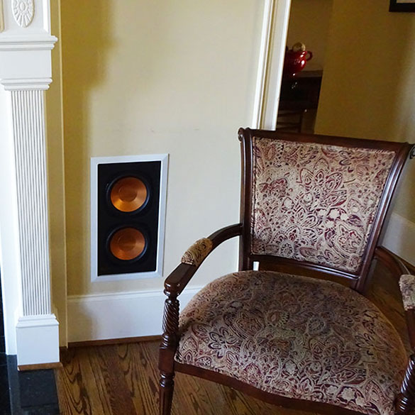 Home theater subwoofer installation