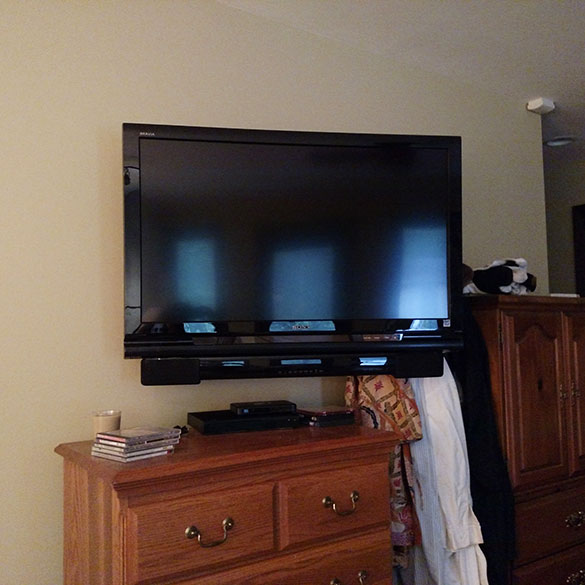 sound bar installation to tv