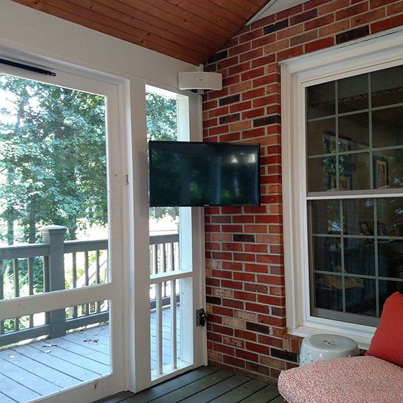 Tv Installation On Screened Deck