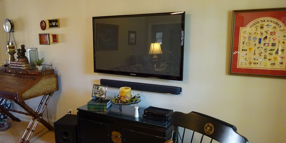 TV and Sound bar mounting