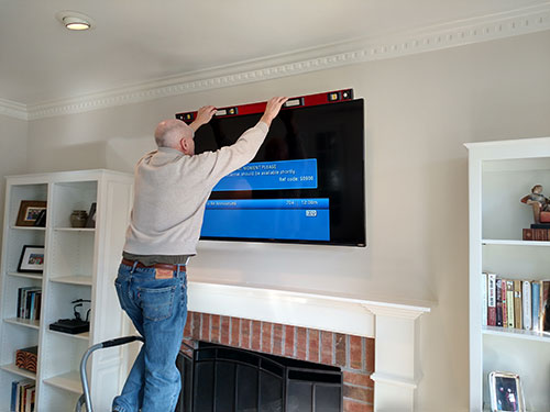 TV mounting in Greenville, SC.