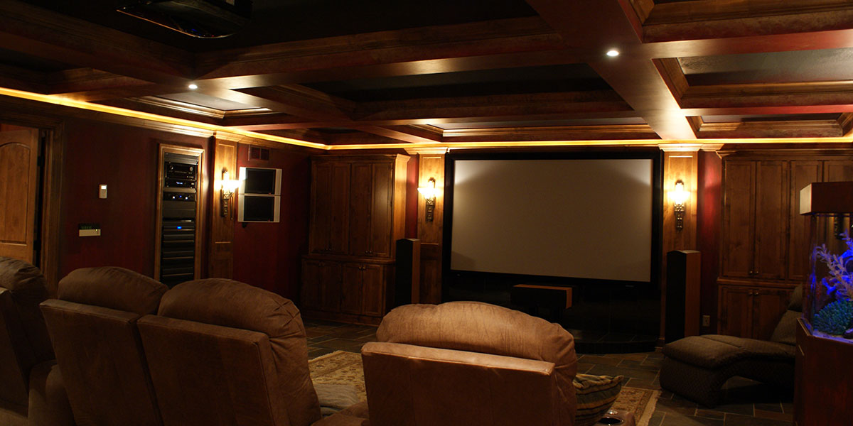 Home cinema installation Greenville, SC.