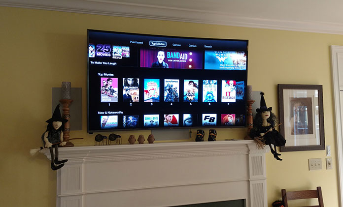 Apple TV installation in Greenville, SC
