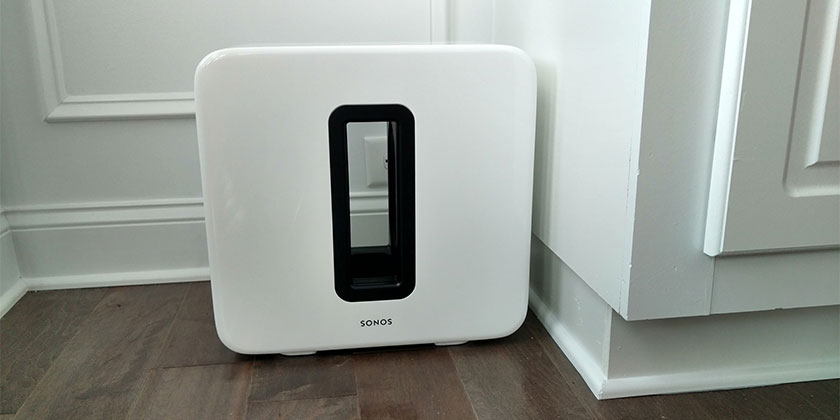 Sonos Subwoofer in White we Installed